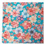 """""""Kofuroshiki"""" Large Handkerchief -Sakura and Flower"""