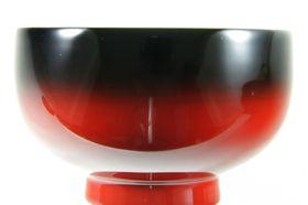 Gradation Lacquer Soup Bowl Black inside