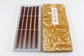Kiso Hinoki (Cypress) Chopsticks - 5 pairs in gift paper box