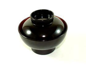 """""""Okuizome"""" Dishes set (Black outside, Red inside for Girl)"""