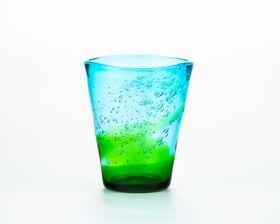 """Awamori""(Okinawa's Distilled Spirits) Glass - Set of 5, Green-Light Blue"