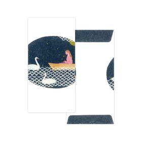 Nishi Shuku  Mino‐washi Celebratory (Gift-money) Envelope - Lake