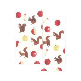 Nishi Shuku Mino‐washi Celebratory (Gift-money) Envelope - Apple and Squirrel